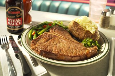 T Bone Steak Dinner From Norms Restaurants Has The Best Steaks In Los