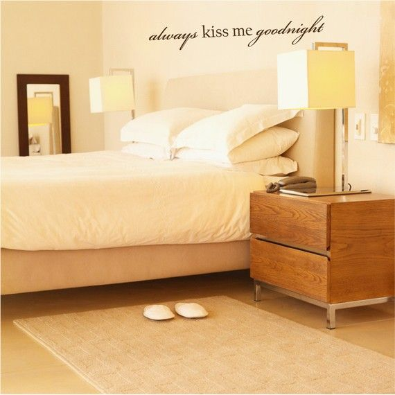 Always Kiss Me Goodnight - Always Kiss Me Goodnight Decal - Always ...