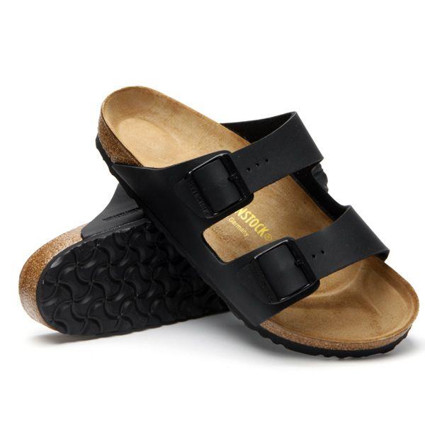 dd0cb6ef93db Birkenstock Mens Arizona Soft Footbed Sandals (Black Leather) Buy ...