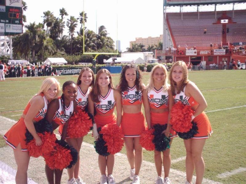 University of Miami Cheerleaders at the Miami Orange Bowl in 2004 ...