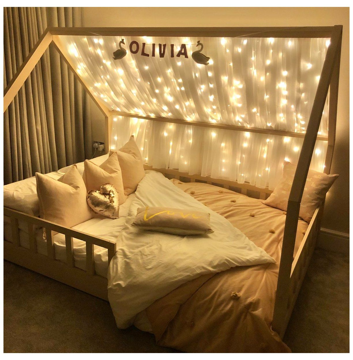 magical fairy light house bed kids