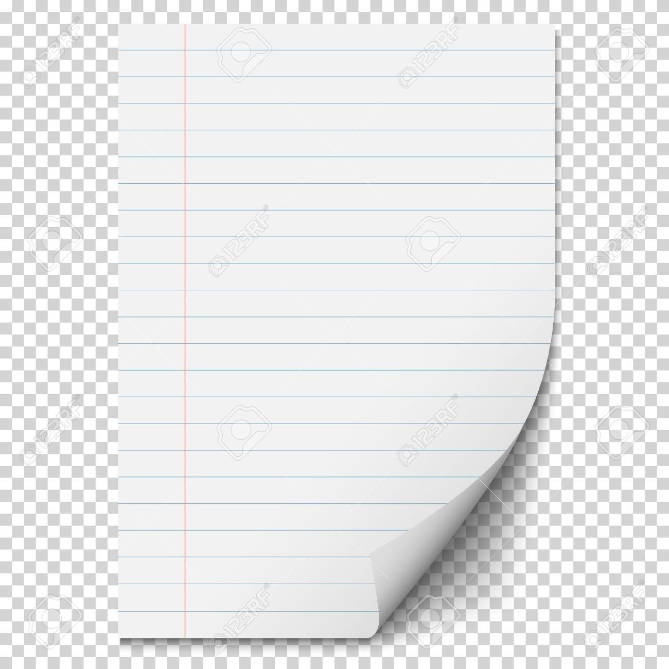 White Blank Paper Sheet With Lines Realistic Blank Folded Page In Paper Transparent Background22357 Paper Paper Template Sheet Of Paper