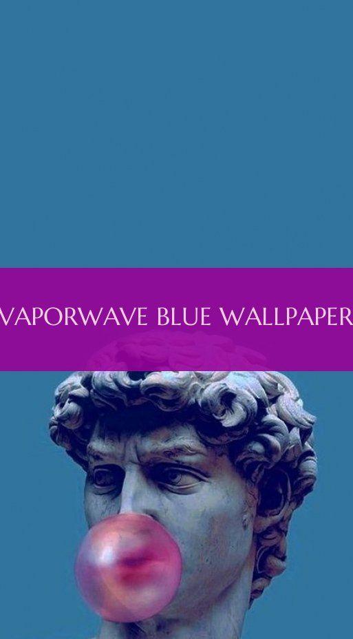 vaporwave blue wallpaper