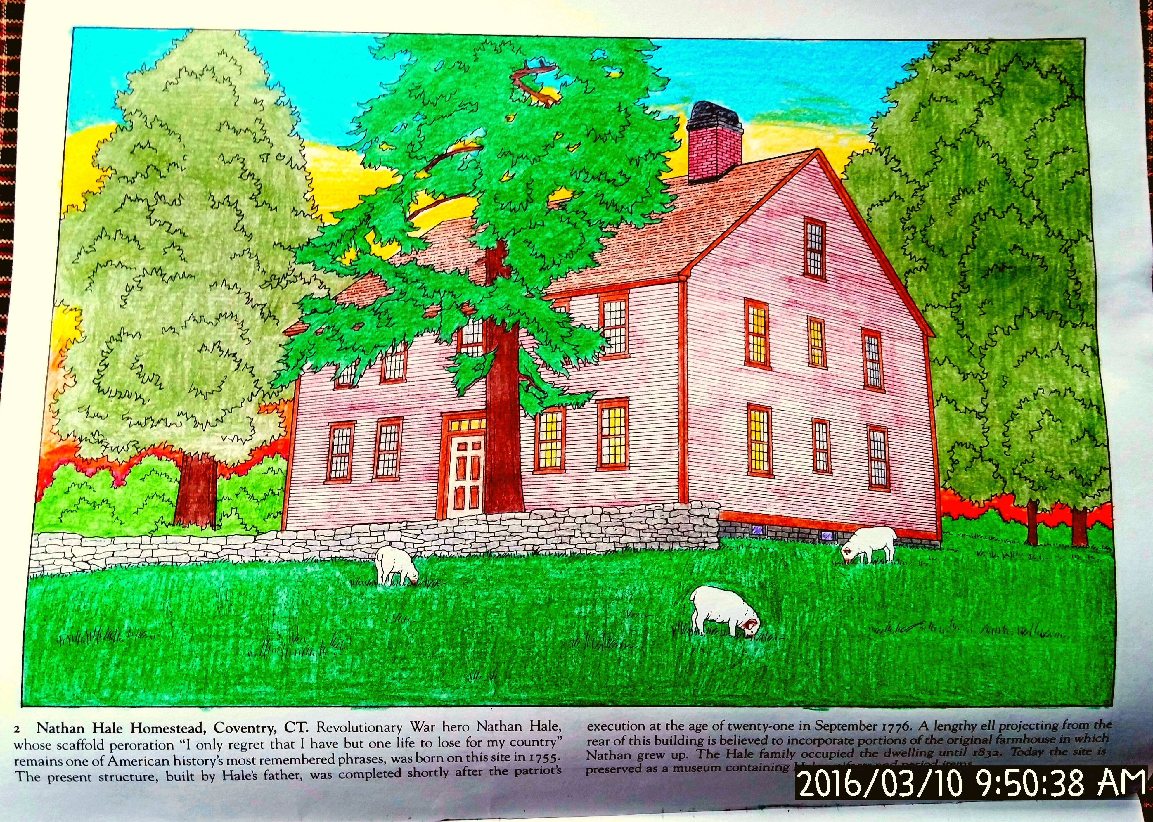 Historic Homes of New England Dover Coloring Book, page 2, Nathan ...