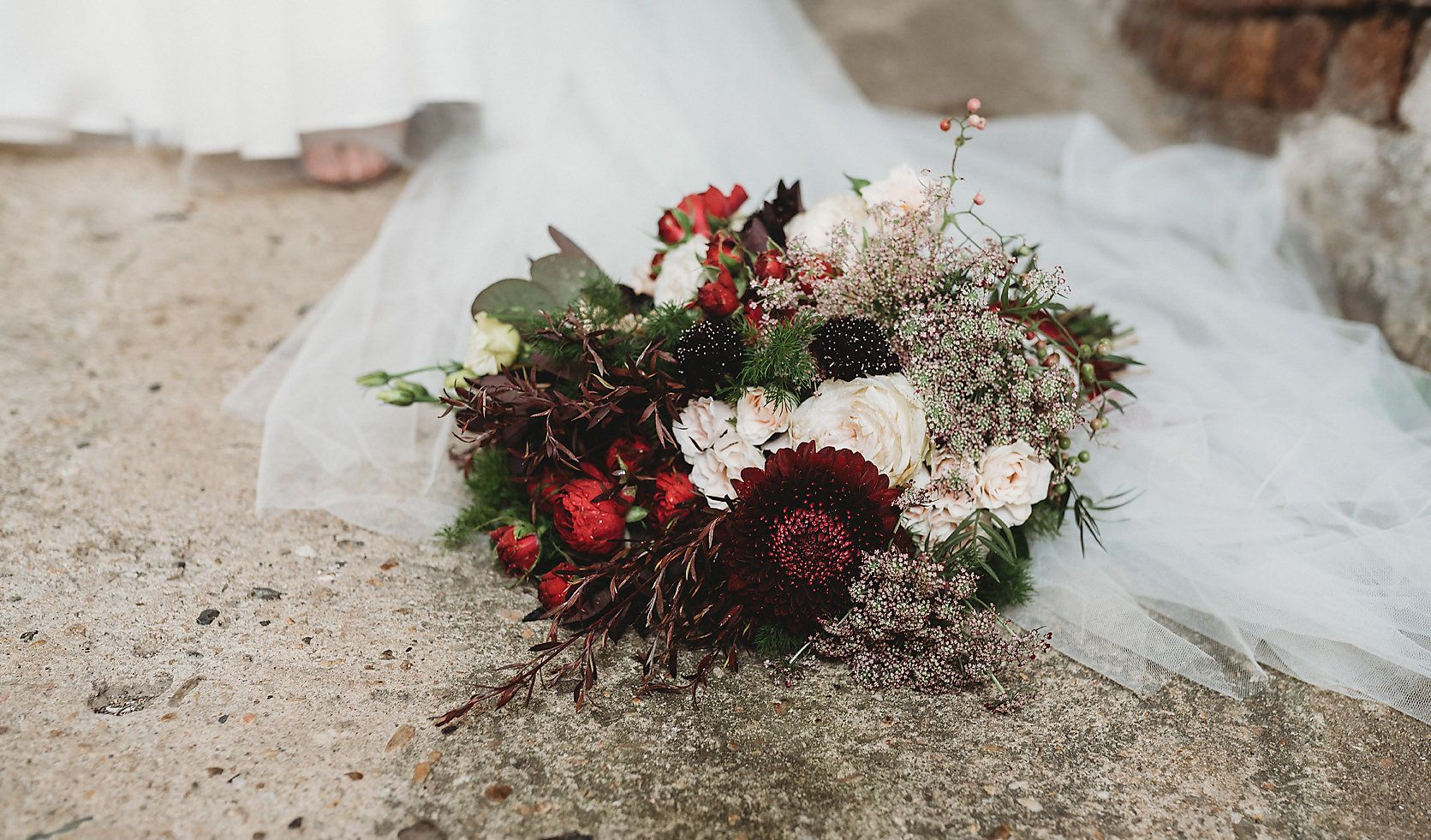 These burgundy coloured florals by miss_popsy