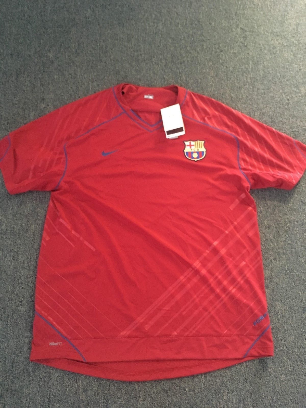 a52af253a 2018 FIFA World Cup NIKE Jersey Barcelona SPAIN (RED) kit (Men Size ...