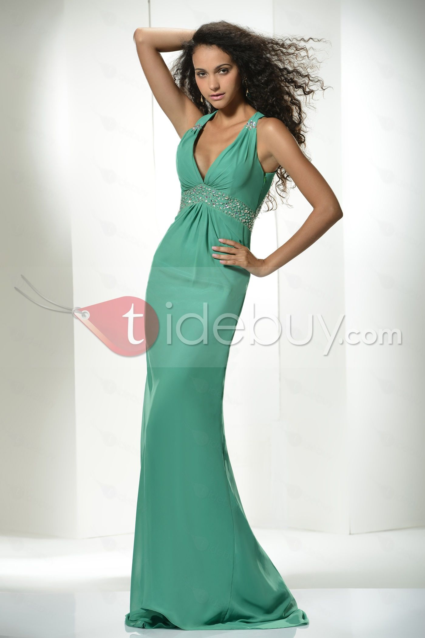 Glamorous Colonne / gaine robe de soirée-parole longueur V-cou  Glamorous Column / Sheath Evening Dress Floor-length V-neck