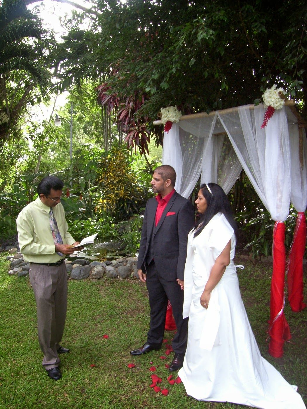 Beautiful Private Garden Wedding Venue In The Caribbean At Lovely Courland Villa Tobago