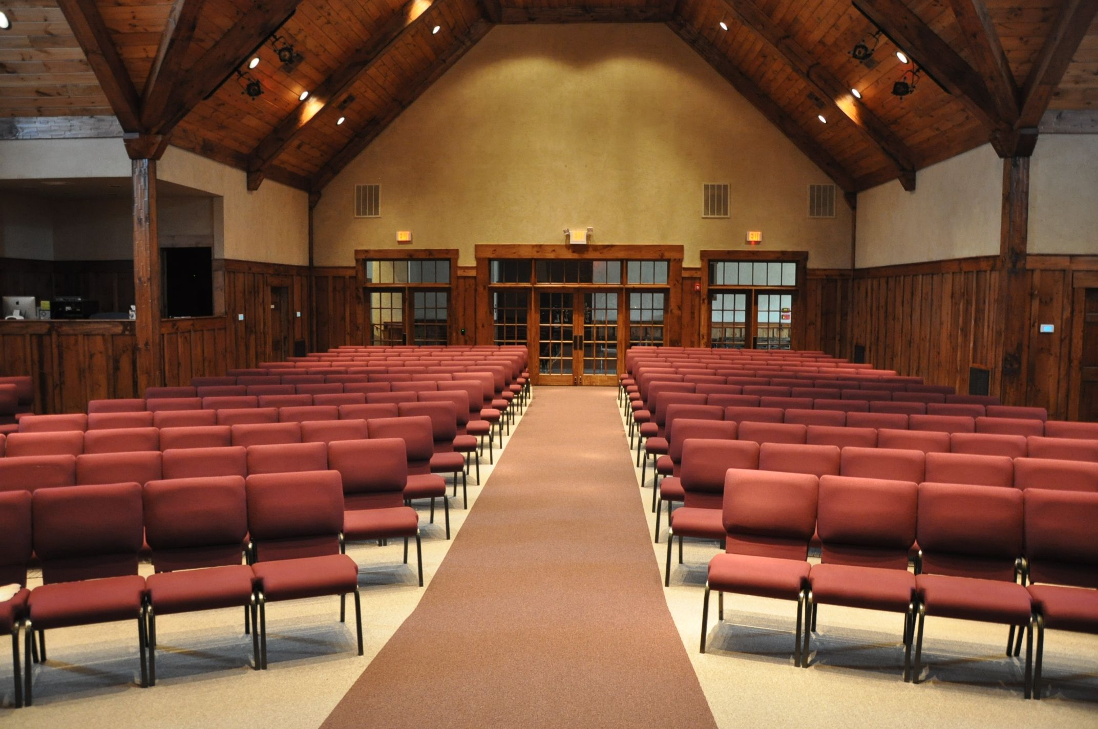 Rows Of Concealed Back Church Chairs (Trinity Evangelical Church   Marble  Hill, GA)