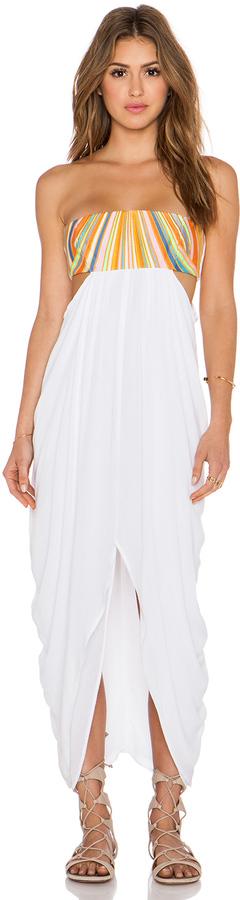 Mara Hoffman Embroidered Strapless Maxi Dress