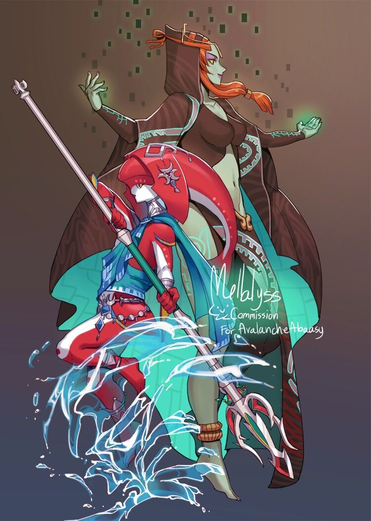 Mipha Midna Botw Twilight Princess Tp Legend Of Zelda Midna