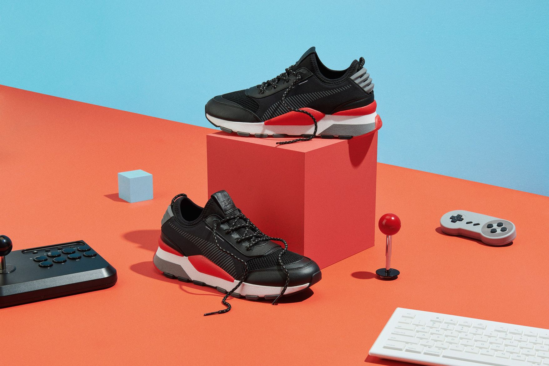 PUMA RS-0 Play shoes video games 80s nes nintendo pink white teal grey  yellow running black red dc057da5eb4b