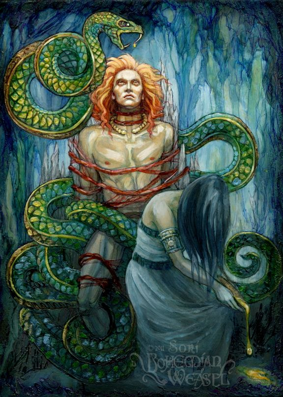 The Punishment of Loki by BohemianWeasel.deviantart.com on @deviantART