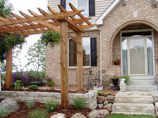 Front Entry Garden Room ~ Front Yard Patio... Just add Friends ... on garden trellis arbor privacy, garden entry doors, garden entry landscaping, garden entry window, garden entry paving, garden entry path,