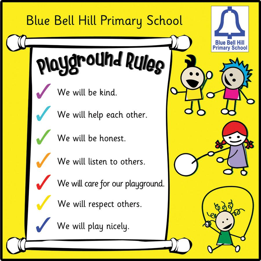 play rules you are here home playground rules sign board