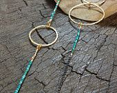 Oxidised silver chain with turquoise necklace.