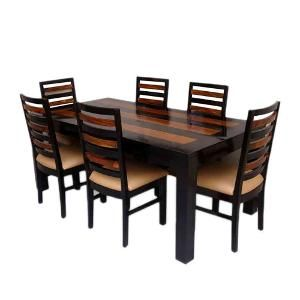 Dining Table Set buy induscraft trendy sheesham wood 6 seater dining table set
