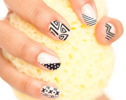 12 Awesome Tribal Nail Art Design Ideas Pinterest Nail Manicure