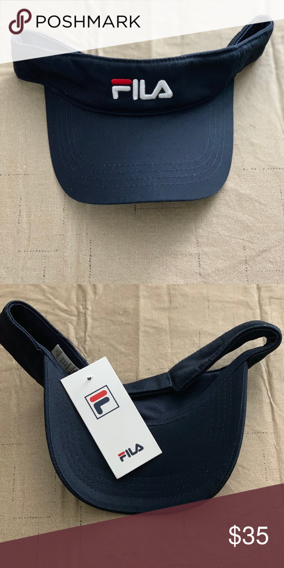 59aabbd16e43d1 FILA USA Heritage Visor Brand new w/ tags. Fila Accessories Hats ...