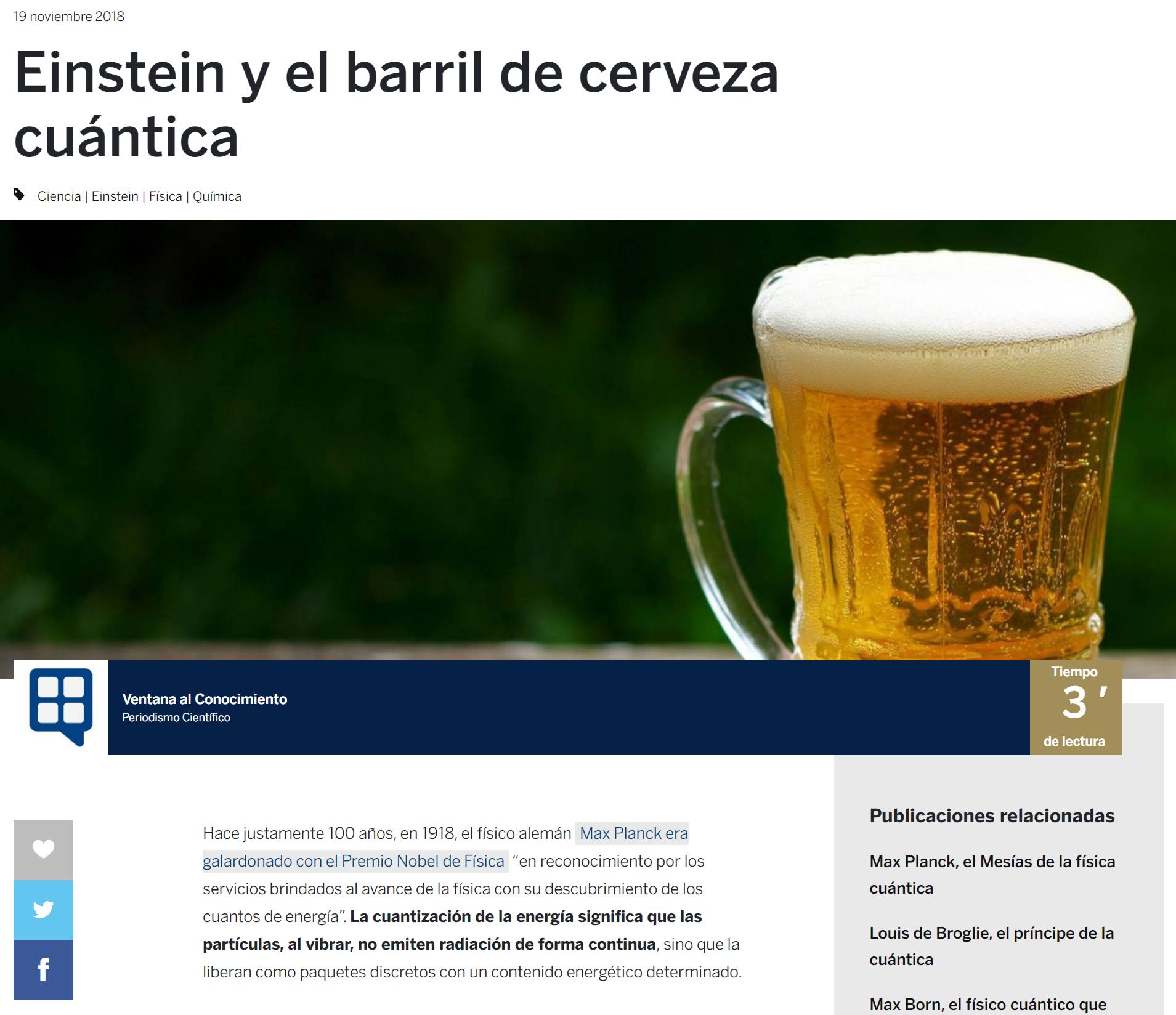 Einstein Y El Barril De Cerveza Cuántica Einstein Barril De Cerveza Constante De Planck