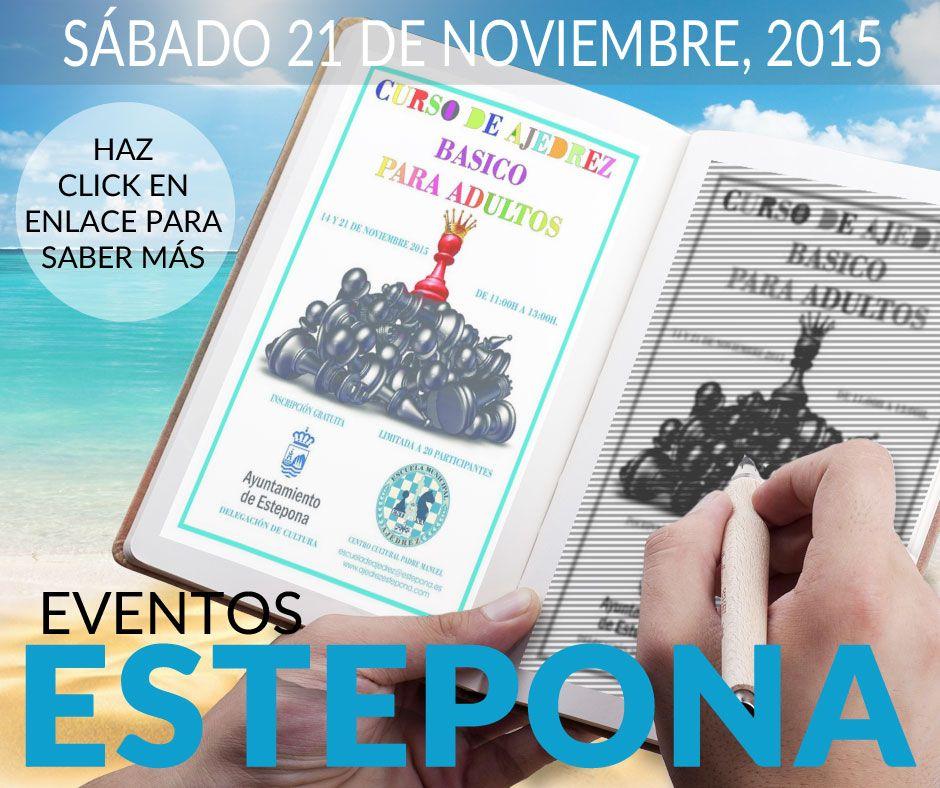 Curso de Ajedrez para adultos (gratuito) | Eventos Estepona | Pinterest