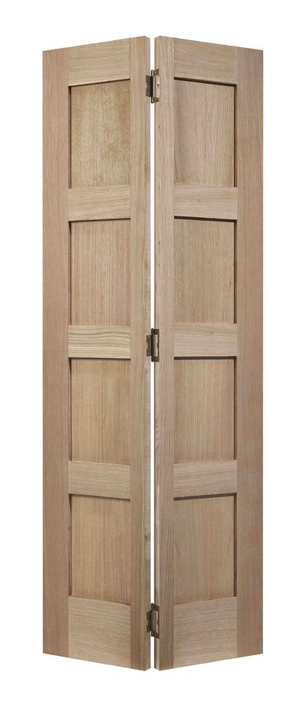 Contemporary Oak 4 Panel Bifold Internal Door Complete With Sliding Track In Home Furniture Diy Diy Wood Doors Interior Folding Doors Interior Bifold Doors