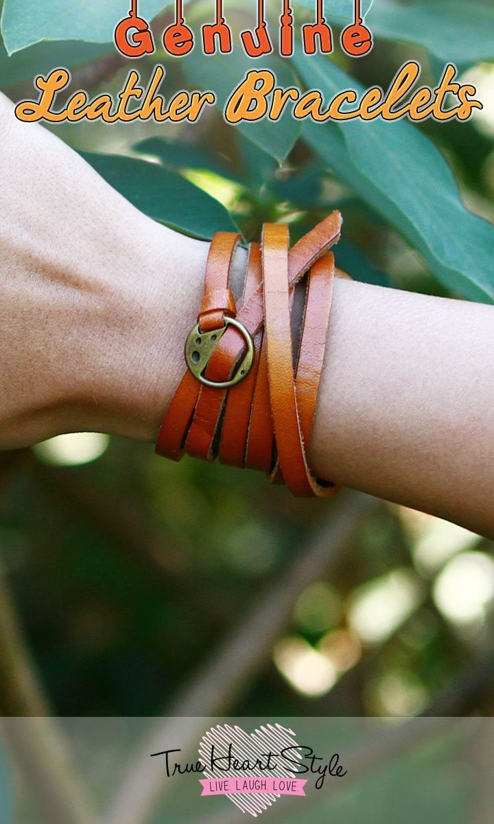 Thin leather bracelet skinny belt watch strap or wrap bracelet