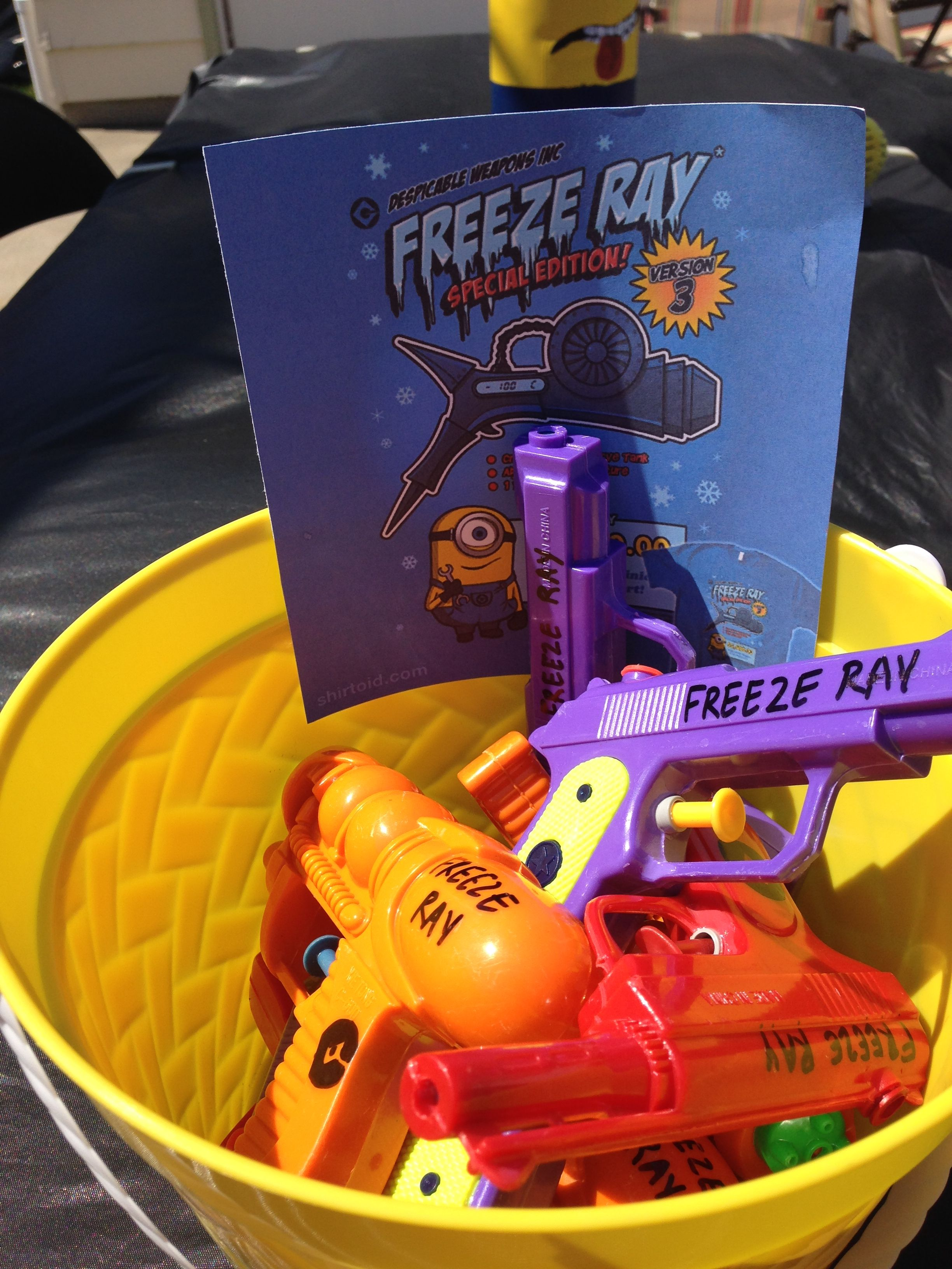 Freeze ray did i actually take the time to write freeze ray and did i actually take the time to write freeze ray and grus laboratories symbol on each gun birthday party despicable me biocorpaavc Image collections