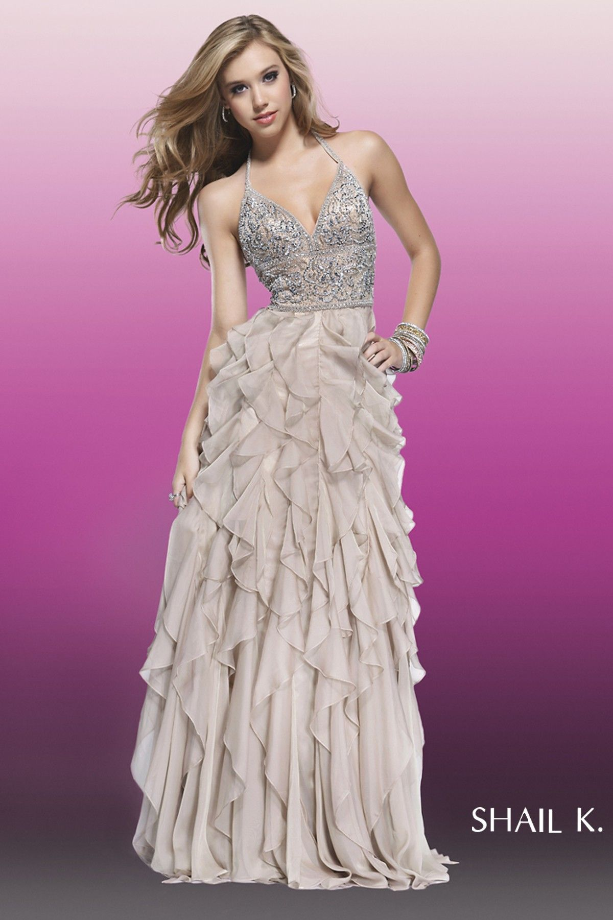SK3830L-NUDE - Long Dresses | 15 preparation | Pinterest | Nude long ...