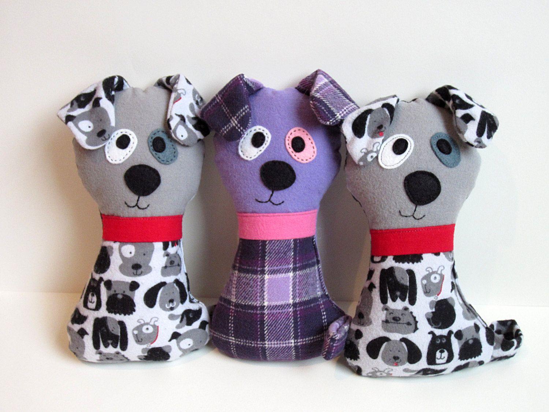 Dog Pattern Scruffy The Stuffed Doggie Pdf Sewing Pattern Soft