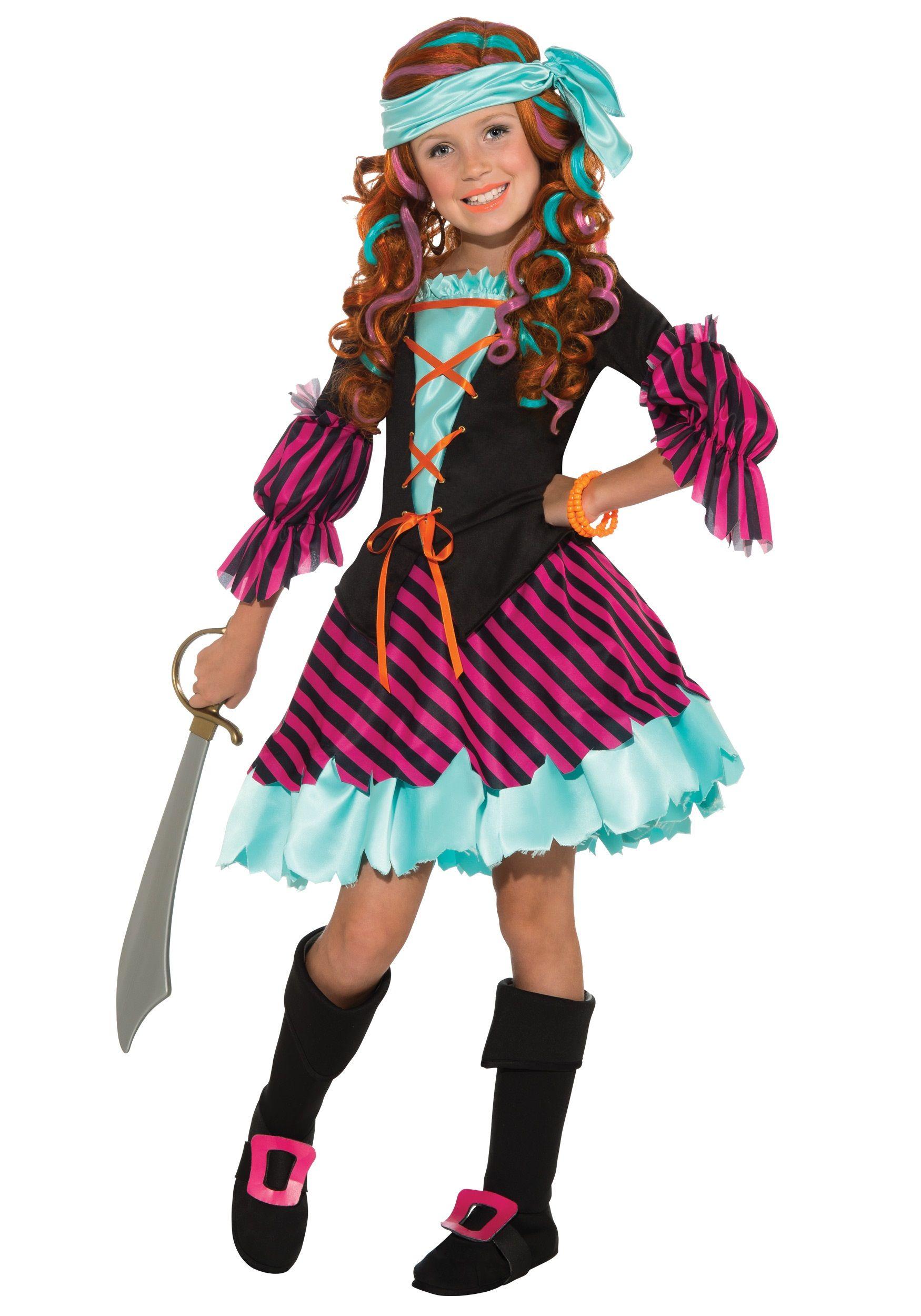 Salty Taffy Girls Pirate Costume | Girl pirate costumes, Girl ...