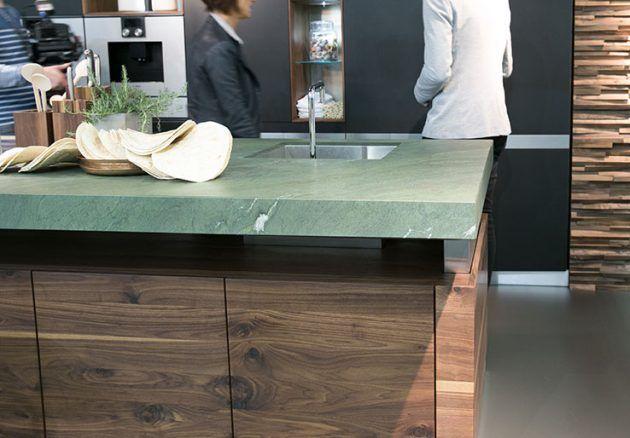 Küche Holz Team 7 auf der Living Kitchen 2015 Küche Pinterest