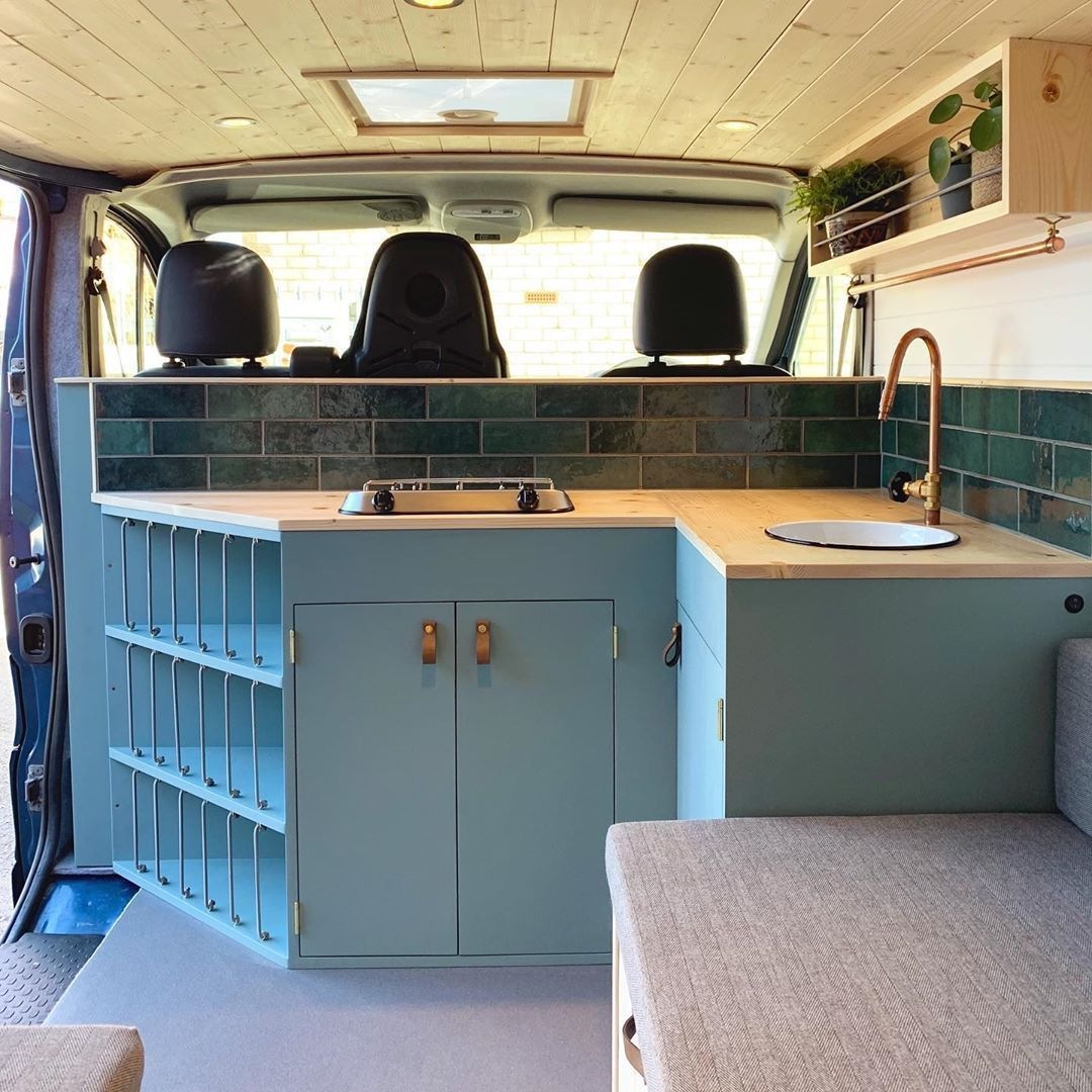 Photo of van living interior beds
