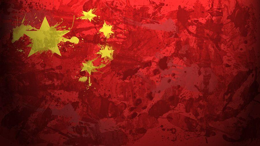 Chinese Flag Wallpaper By Garyckarntzen On Deviantart Flag Art China Flag Art Wallpaper