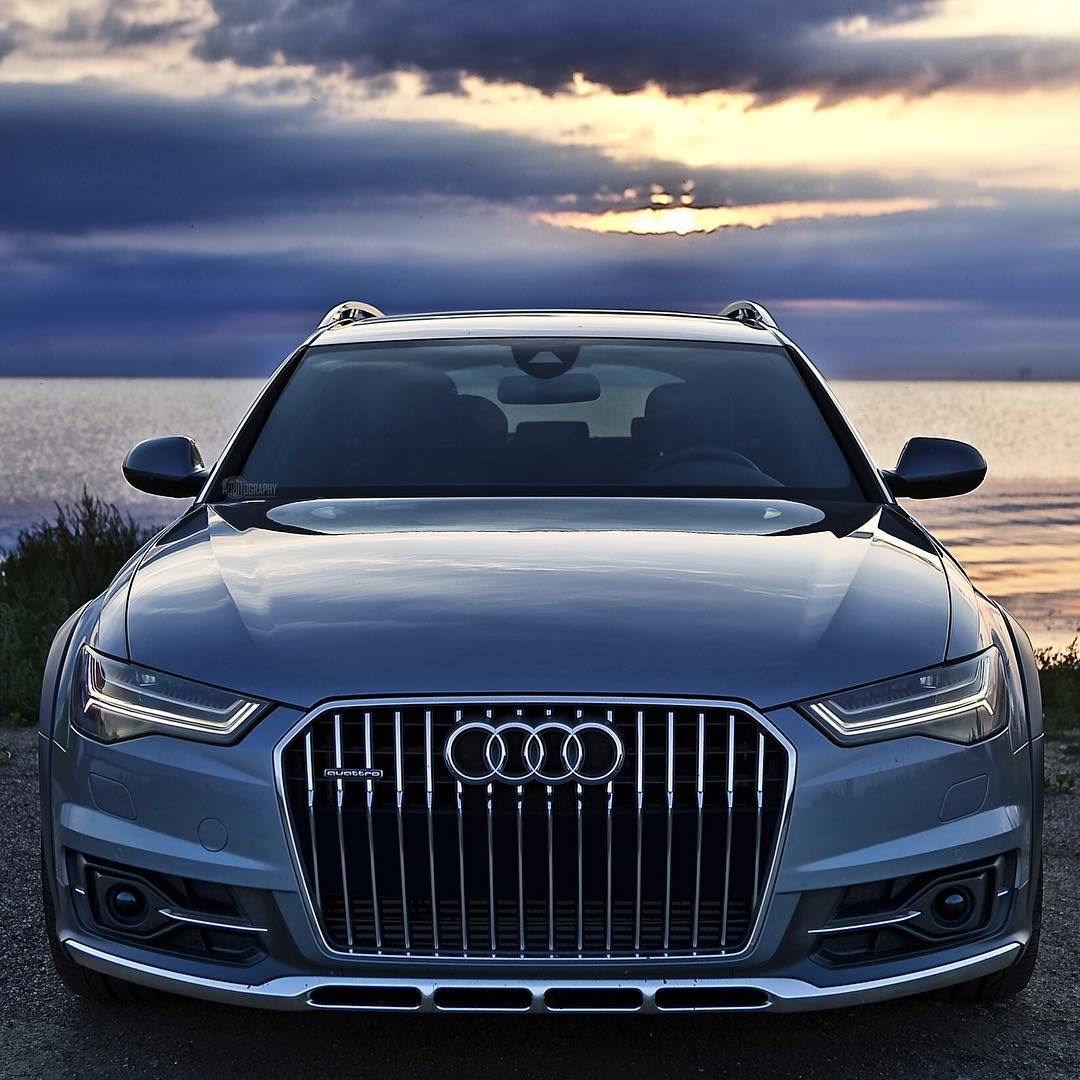 a6 allroad new the a6 allroad shining nicely in a beautiful scandinavian sunset car 2016. Black Bedroom Furniture Sets. Home Design Ideas