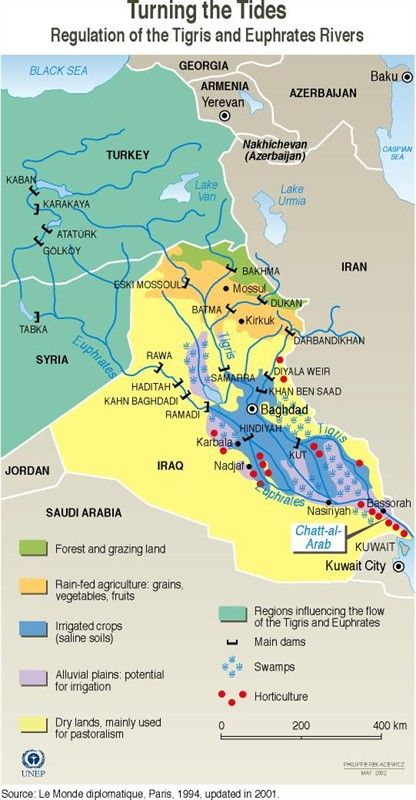 Regulation of the Tigris and Euphrates rivers GRID-Arendal - Maps - new world map kuwait city