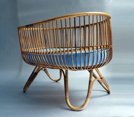 Ratan Crib 70s Style Rattan Crib Inside Spaces For