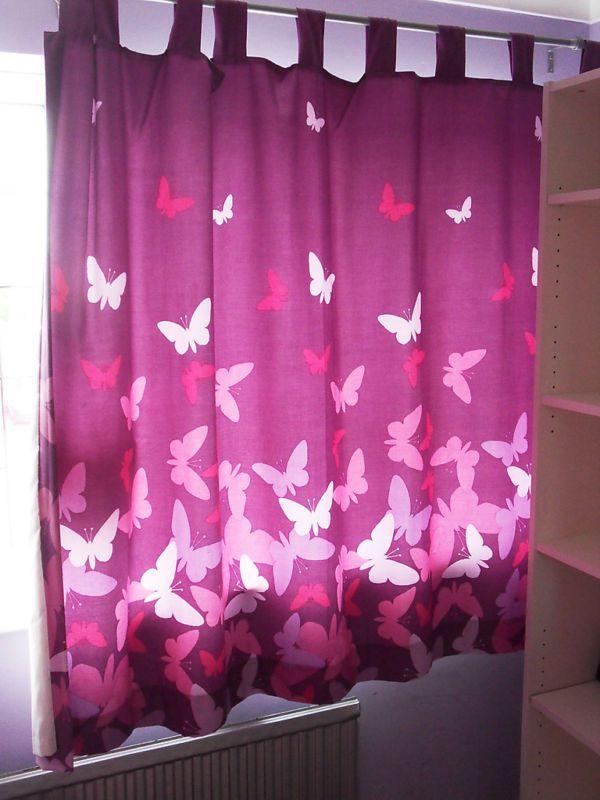 Curtains For Childrenu0027s Bedroom Suites Butterflies Motifs