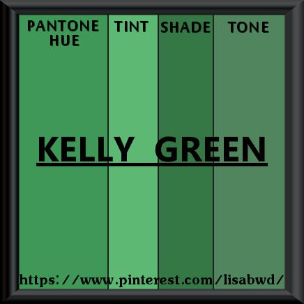Pantone Seasonal Color Swatch Kelly Green Green Mix