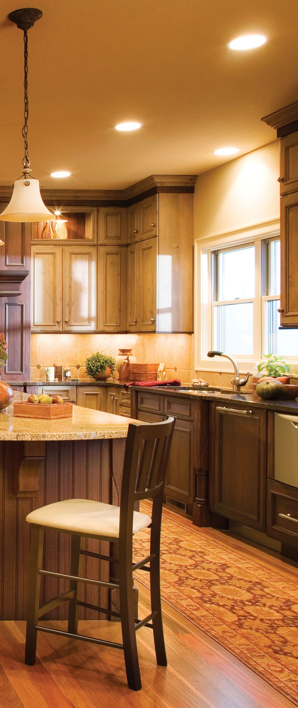 Mix it up with 2 different wood species for your cabinetry ...