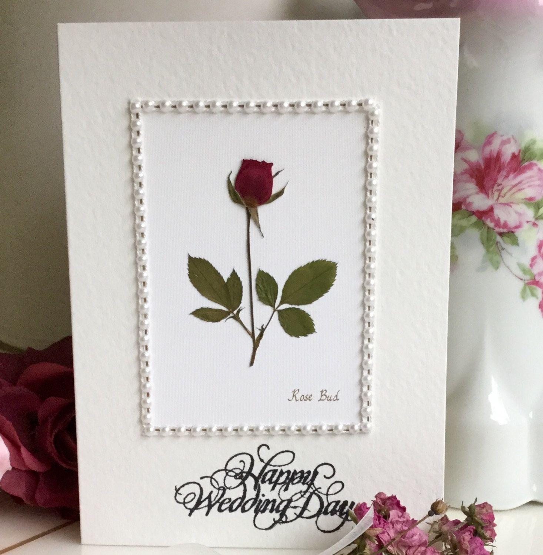 Wedding wishes, rose flower card, Happy Wedding Day