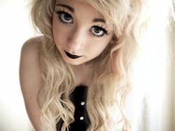 hair Blonde facial and black