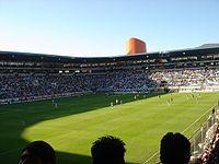 Interior del Estadio Hidalgo durante un juego.