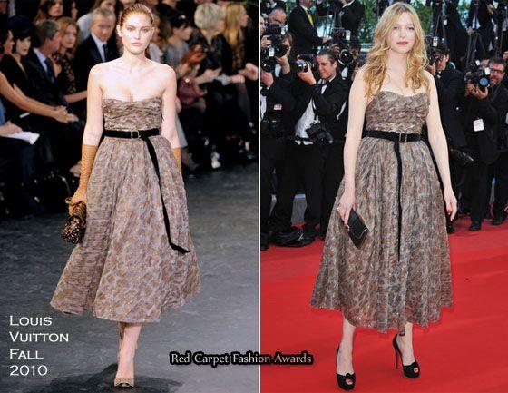 """2010 Cannes Film Festival: """"On Tour"""" Premiere – Lea Seydoux In Louis Vuitton"""