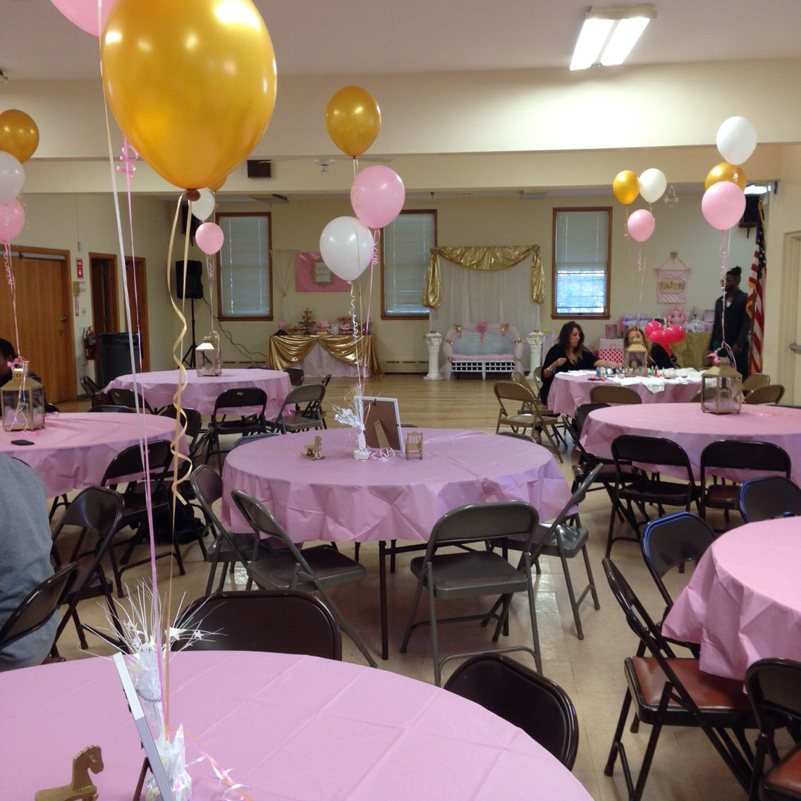 Pink And Gold Royal Baby Shower Table Set Up Party
