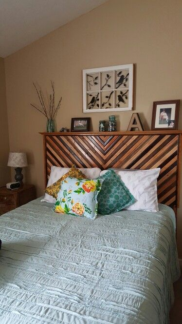 Do it Yourself headboard with mantel!