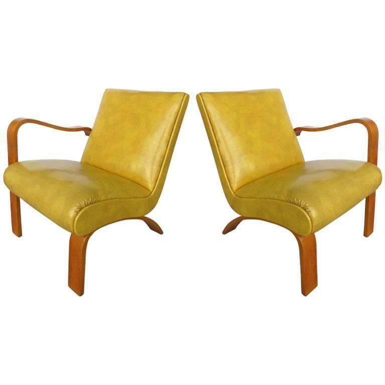 Admirable 1940S Thonet Bentwood Lounge Chairs With Opposing Arms Gmtry Best Dining Table And Chair Ideas Images Gmtryco