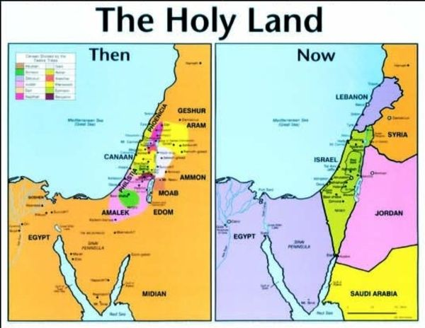 Holy Land Then amp Now Laminated Baker Book House Kids