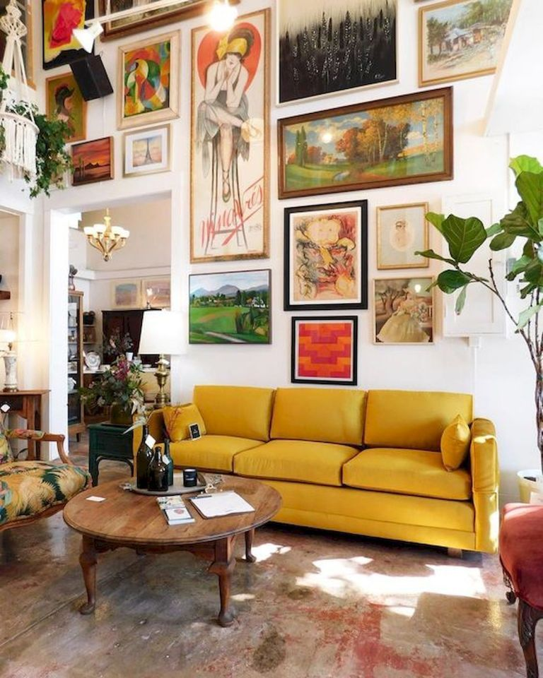 50 Stunning Living Room Wall Art Ideas And Decorations 5 Artmyideas Small Living Room Decor Buy Home Furniture Retro Home Decor