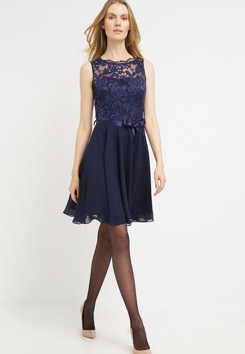 Swing Cocktailkleid Festliches Kleid Dunkelblau Zalando De Cocktail Dress Lace Bridesmaid Dresses Dresses